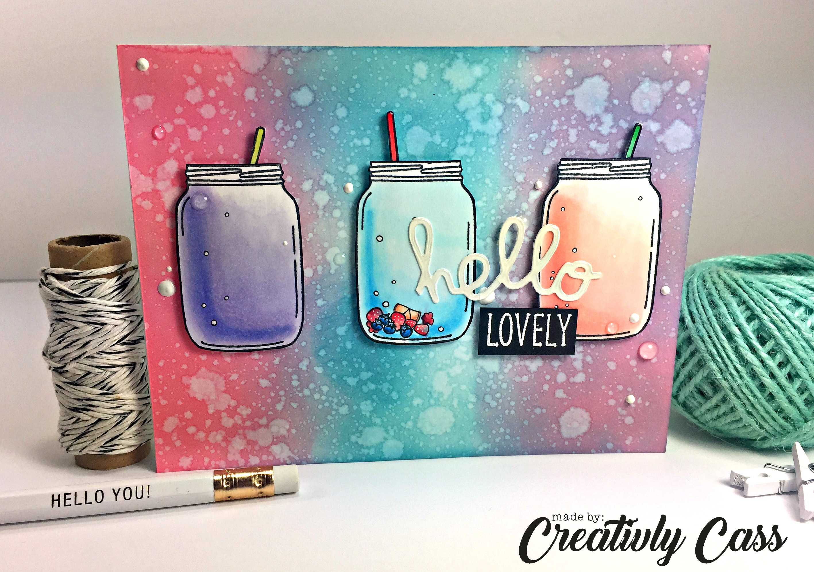 130Hello Lovely Card by May Guest Designer Cassie Tezak | Lovely Blooms Stamp set by Newton's Nook Designs #newtonsnook