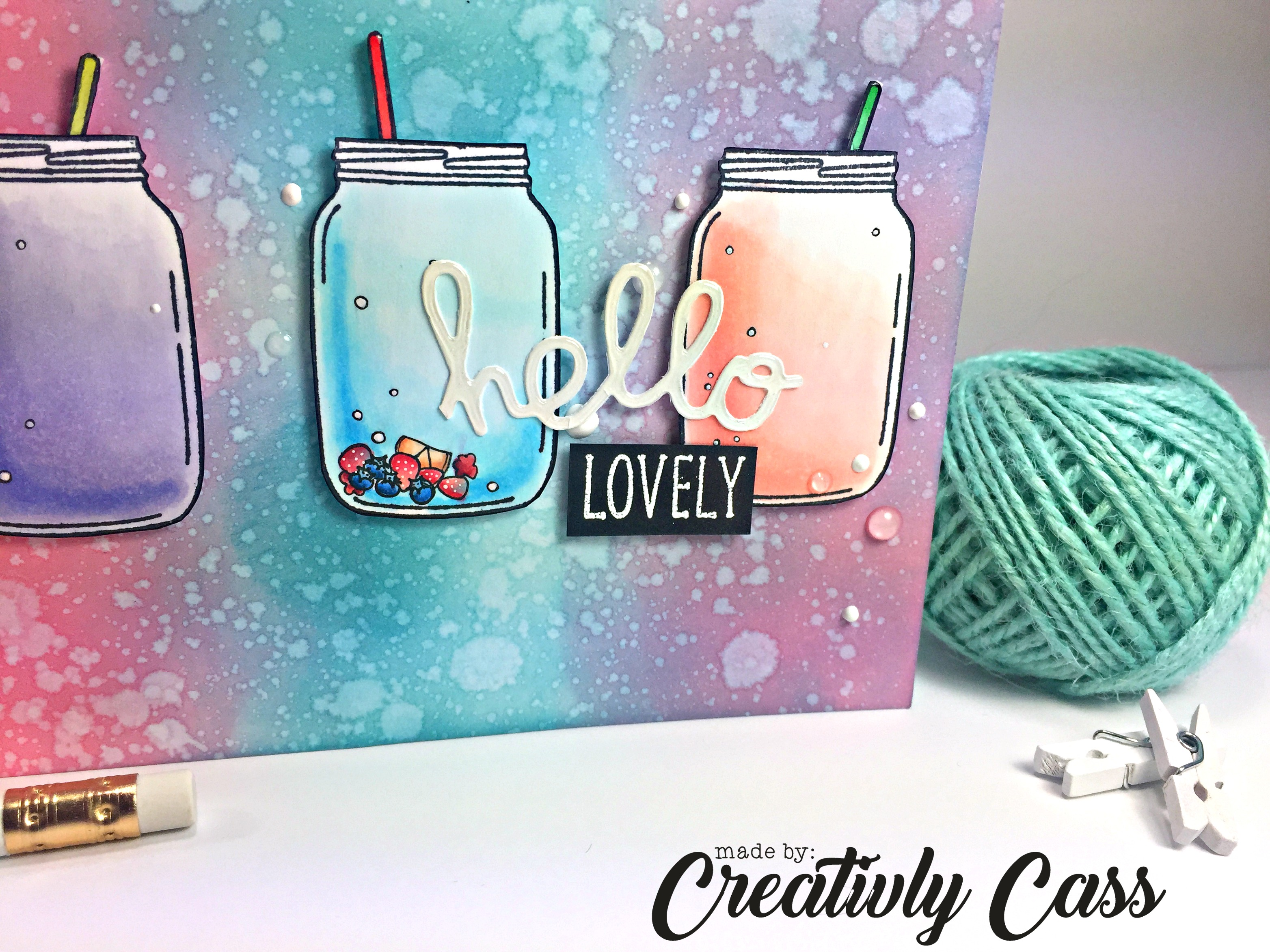 131Hello Lovely Card by May Guest Designer Cassie Tezak | Lovely Blooms Stamp set by Newton's Nook Designs #newtonsnook
