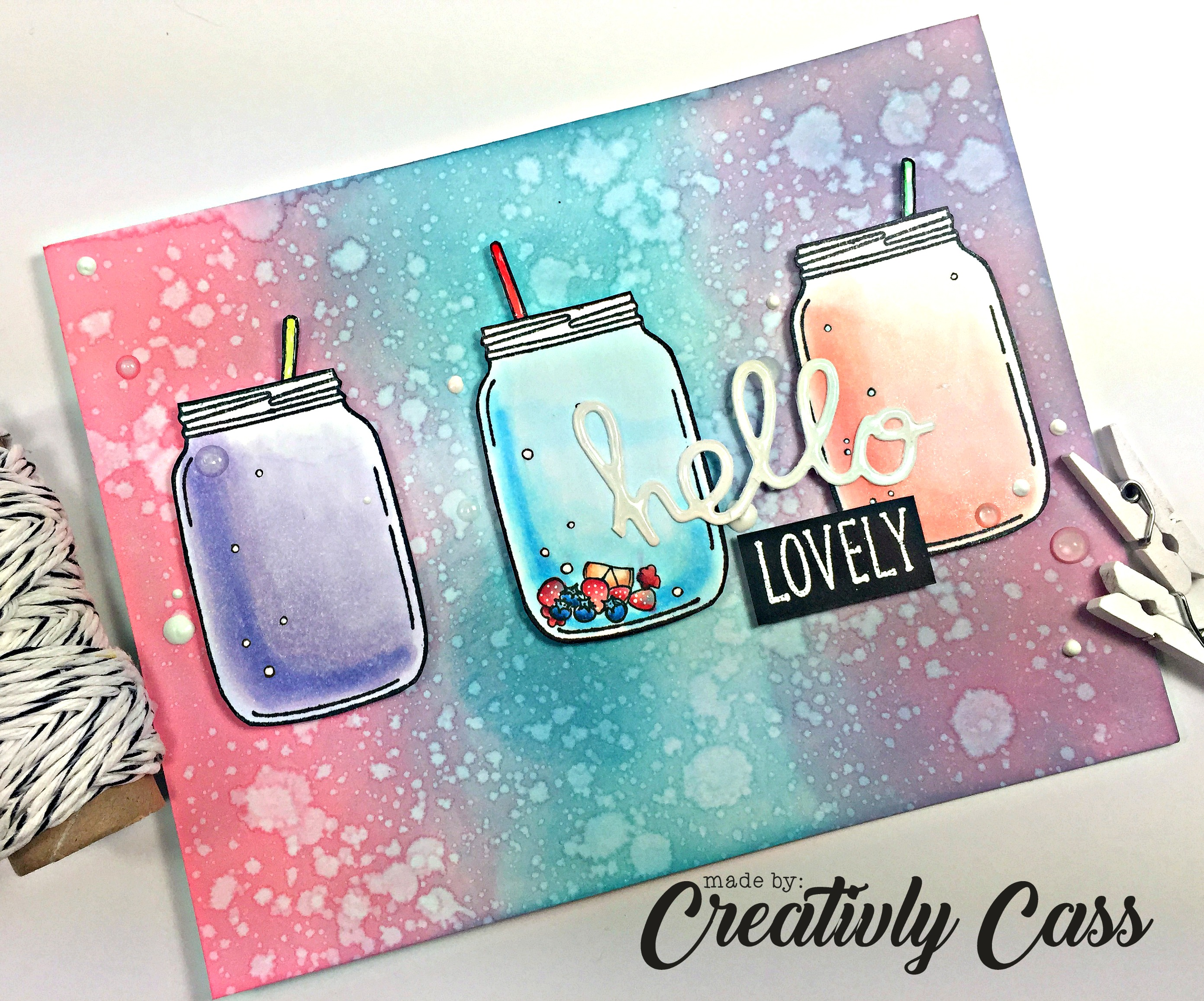 134Hello Lovely Card by May Guest Designer Cassie Tezak | Lovely Blooms Stamp set by Newton's Nook Designs #newtonsnook